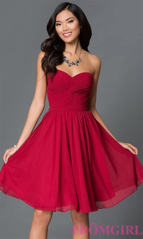 Sweetheart Dresses by Strapless Sweetheart Prom Dress Promgirl