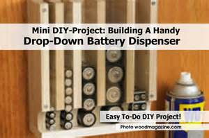 mini diy project building a handy drop down battery dispenser
