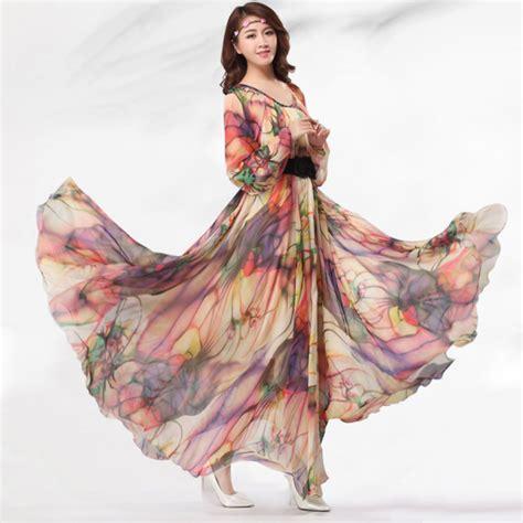 Wear Sweet Flower Sundress lavender chiffon skirt maxi skirt silk chiffon