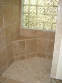 custom tile seat in a walk in shower showers