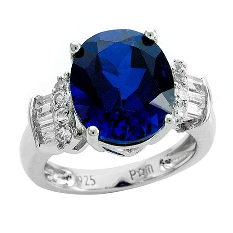 sterling silver lab created sapphire lab created white