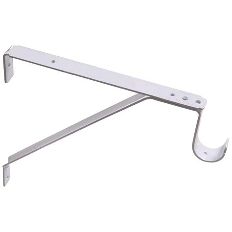 Closet Shelf Brackets And Rods by The Hillman White Slide Adjustable Shelf And Rod