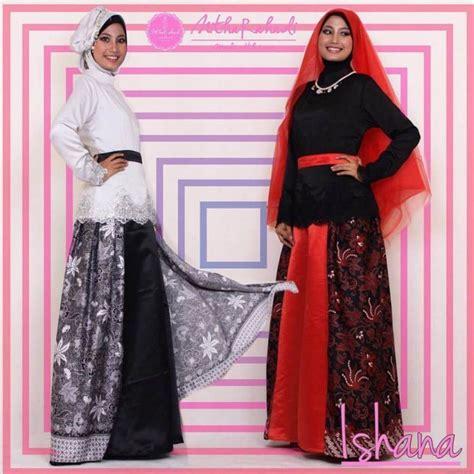 Gamis Brokat Kombinasi gamis batik kombinasi kain polos model terbaru 2017