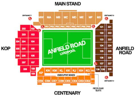 stand seating plan liverpool anfield stadium 54 074 gt 60 000 page 504