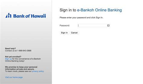 bank of hawaii credit card sign on hawaiian airlines bank of hawaii mastercard login make a