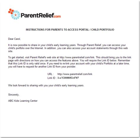 nursery cancellation letter templates using bizadvantage to enroll children how to start a