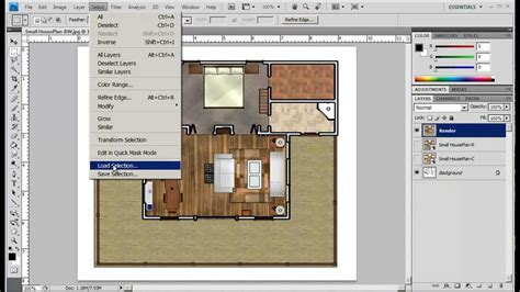 Rendered Floor Plans 2012 photoshop plan rendering part a mp4 youtube