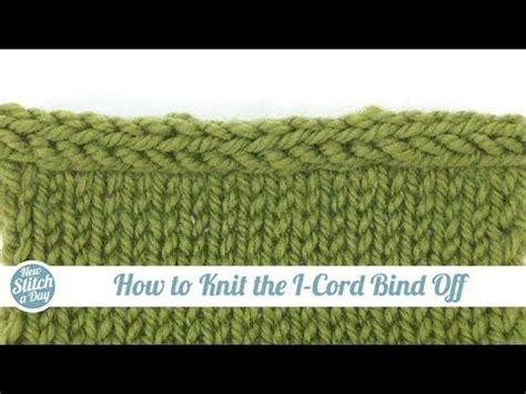 how to finish a row of knitting how to knit the i cord bind knitted cast on three
