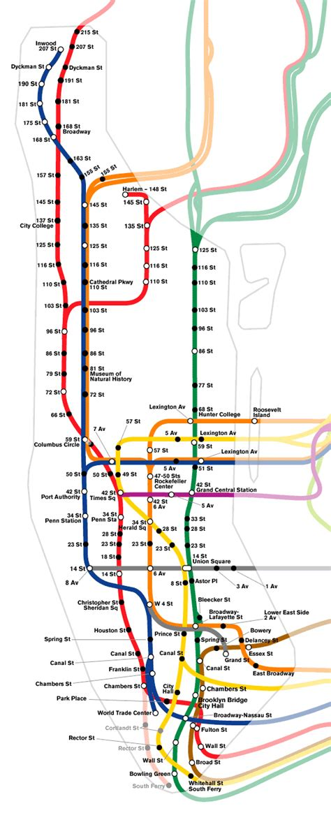 subway maps schematic subway map of manhattan manhattan schematic subway map vidiani maps of all