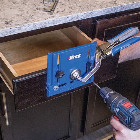 kitchen cabinet hardware jig kreg cabinet hardware jig