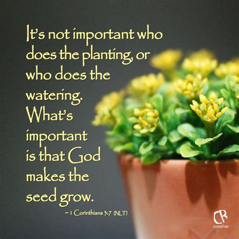 where the gods plants and peoples of the books it s not important who does the planting or who does the