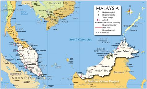 map of malaysia political map of malaysia nations project