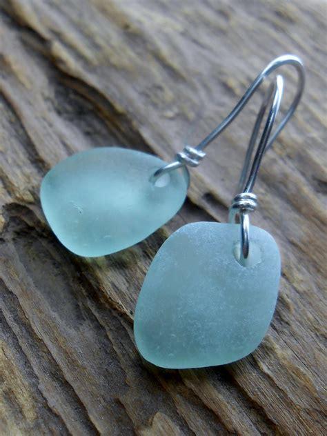 sea glass jewelry glass wedding earrings the