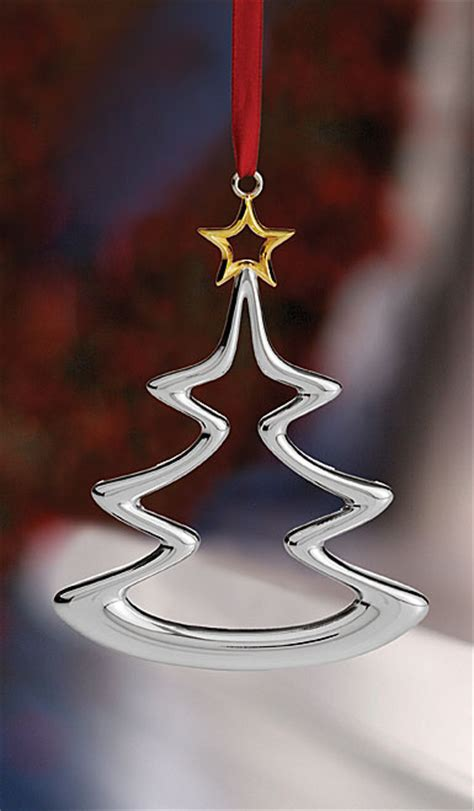 nambe christmas tree ornament