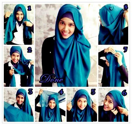contoh tutorial hijab syar i contoh gambar tutorial hijab yang sesuai syar i terbaru