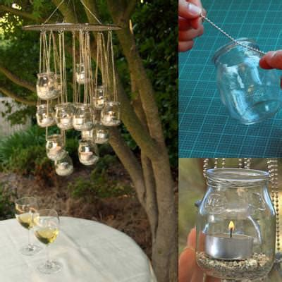 how to make a candle chandelier how to make a candle jar chandelier diy light tip junkie