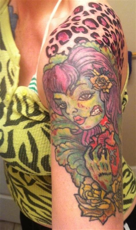 zombie girl tattoo tattoos for www imgkid the image
