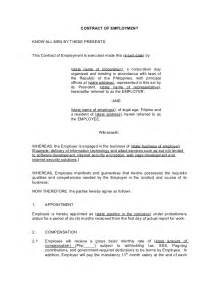 commission based employment contract template contract of employment probationary employee