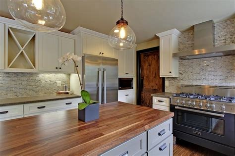seattle home enhancement two tone kitchen with shaker