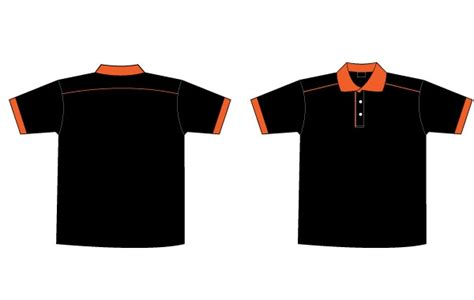 Tshirt Kaos Element free of free black orange collar t shirt