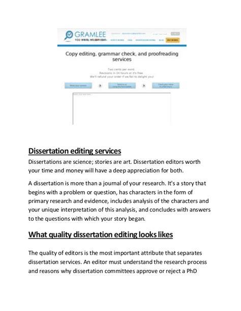 dissertation editing service gramlee dissertation editing services