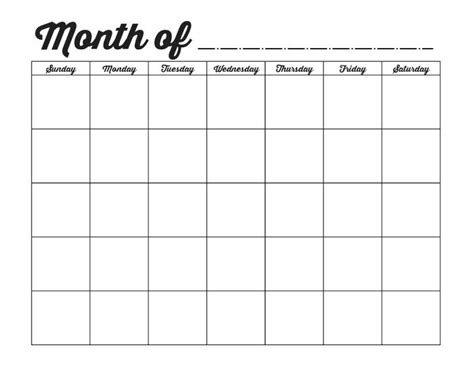 free blank monthly calendar template 25 best ideas about blank calendar on blank