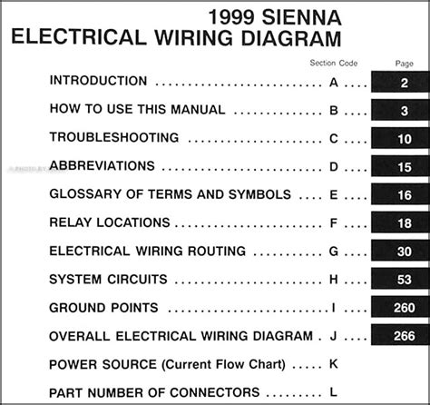 electric and cars manual 1999 toyota sienna interior lighting toyota sienna electrical diagram toyota auto parts catalog and diagram
