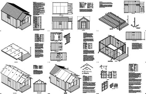 free house plans with material list 20 x 12 guest house garden porch shed plans p72012