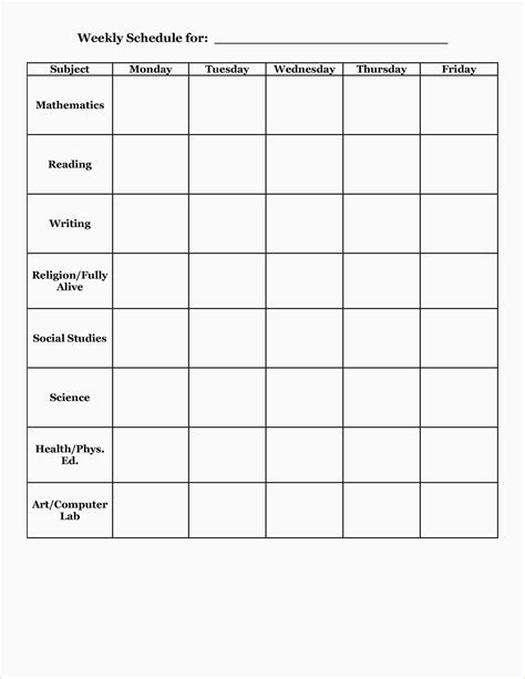 4 School Planner Template Ganttchart Template School Schedule Template