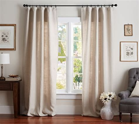 pottery barn linen curtains belgian flax linen drape pottery barn