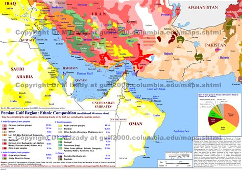 middle east map ethnic the gulf 2000 project sipa columbia