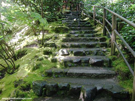 Backyard Flower Gardens Rustic Stone Steps In Green Garden Love That Image
