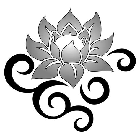 tribal lotus tattoos 114 best scroll designs images on quilling