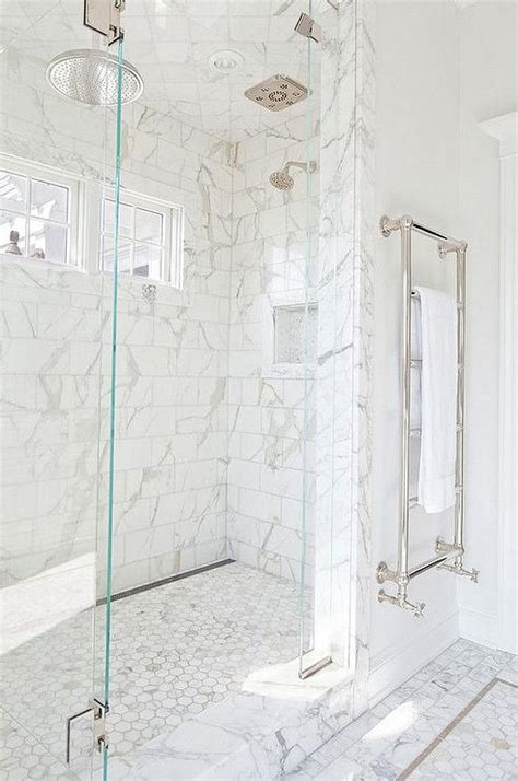 marble tiles bathroom exquisite master shower is clad in white marble subway
