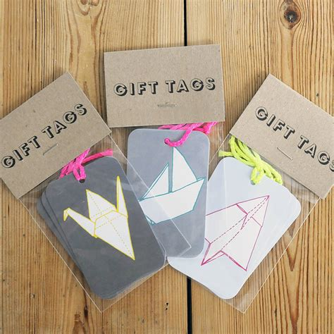 Origami Gift Tag - set of three origami gift tags by sparrow wolf