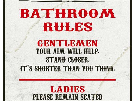 Cheap Bathroom Renovation Ideas funny bathroom rules signs home design ideas