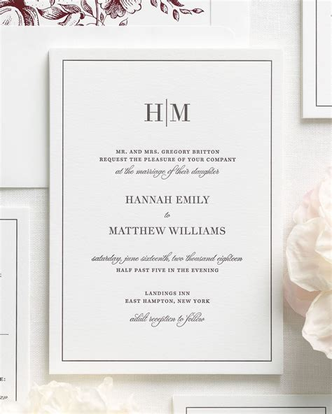 Glam Monogram Wedding Invitations