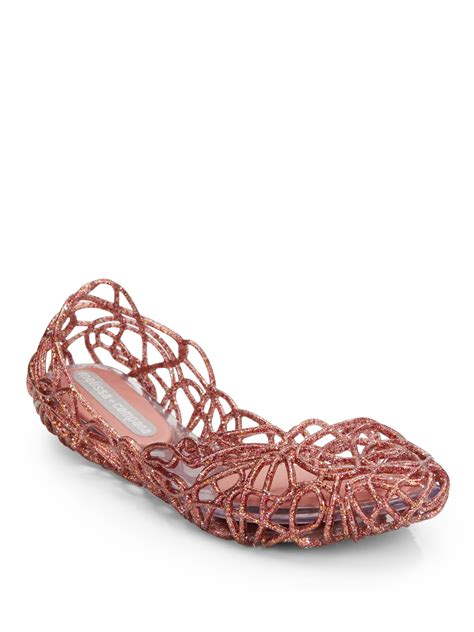 woven jelly sandal cana sapatilha vi woven jelly flats in pink lyst
