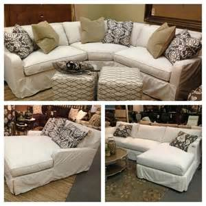 slipcover for sectional sofa with chaise robin bruce havens slipcover sofa now available as
