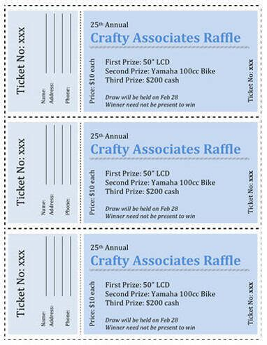 raffle ticket templates free for word search results