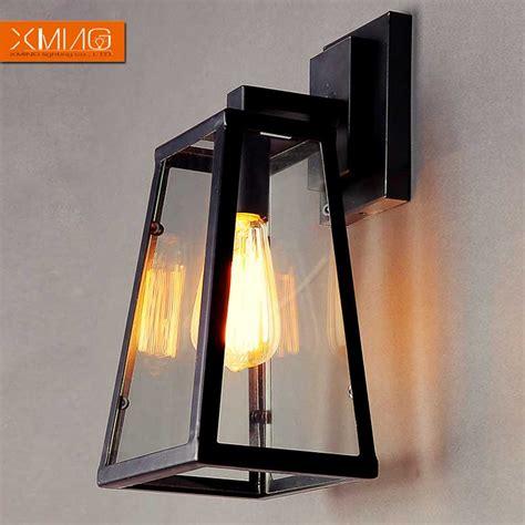 Black Wall Sconces Indoor Vintage Wall L Iron Indoor Lighting Black Glass L