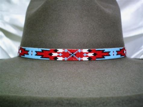beaded hat band patterns beaded hat bands american style by ajwhatbands