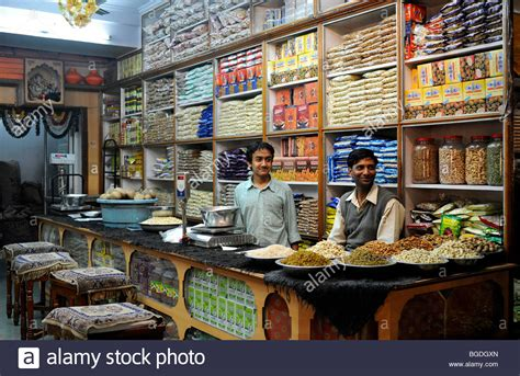 grocery store in the historic town centre of jaipur