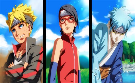 foto wallpaper boruto naruto the movie boruto sarada and mitsuki full hd wallpaper and