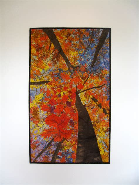 Quilted Wall by Quilted Wall Hanging Quilt Autumn Trees Original