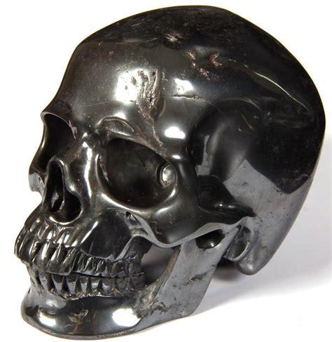 hematite skull 5 2 quot hematite carved skull realistic