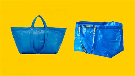 new ikea bag ikea responds brilliantly to the balenciaga blue bag