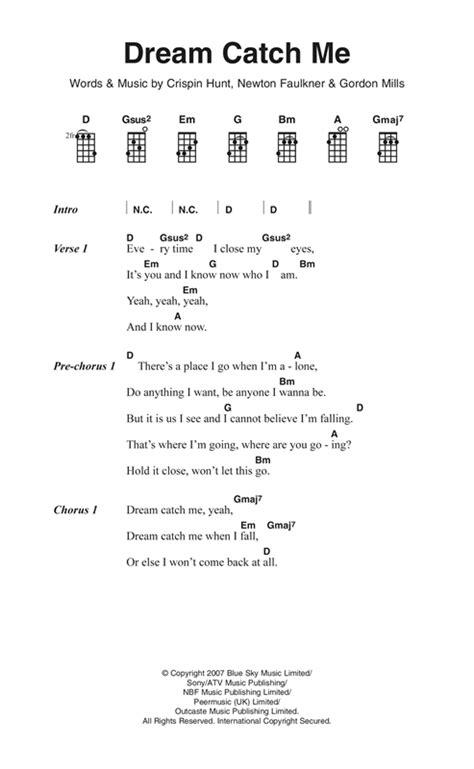 my lyrics newton catch me sheet by newton faulkner ukulele