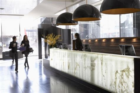 Hotel Lobby Reception Desk Onyx Interiors Luxury Interior Design Journal