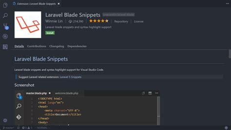 format date laravel blade vscode extensions for laravel and php development